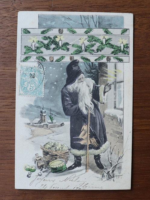 CPA fantaisie Joyeux Noël 1903 Père Noël