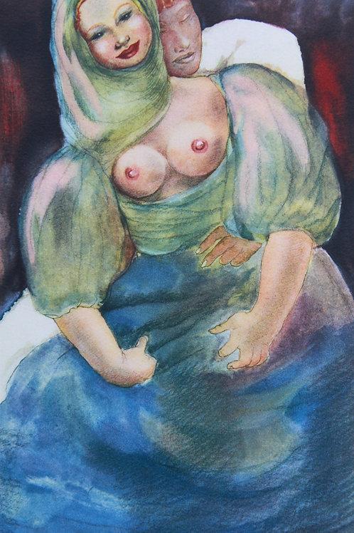 Mariette Lydis. Estampe érotique (1935). Nu (8)