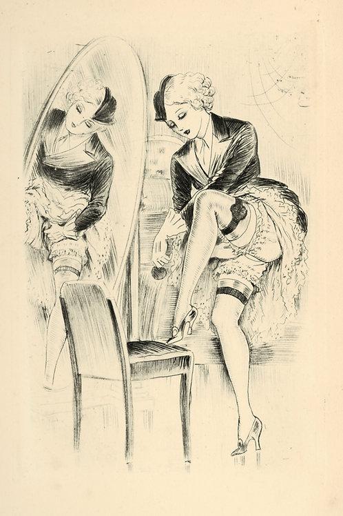 Johannes Gros. T. Mertens. Cydalise ou le Péché dans le miroir. 8 eaux-fortes