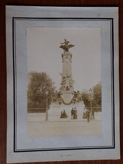 Paris 1900 Photographie ancienne 1900 Ganbetta Hommes femmes élégants mode