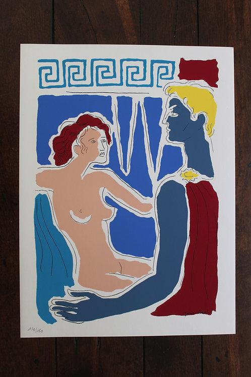 Ignasi Vidal. Sérigraphie d'art (1961). 1/180 ex. Grand format 44 x 32