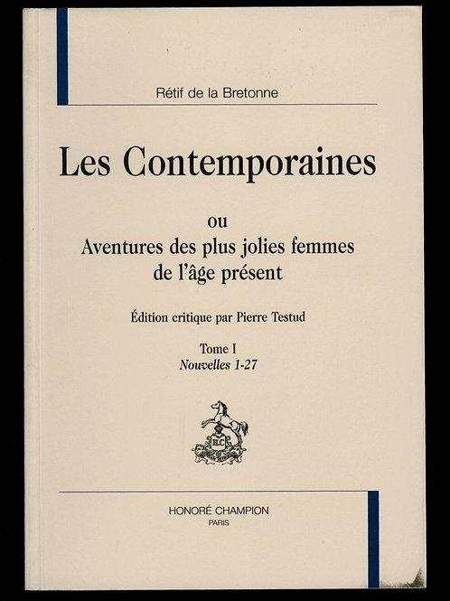 2014 Rétif de la Bretonne Restif Bretone Les Contemporaines Tome 1 - Nouv. 1-27