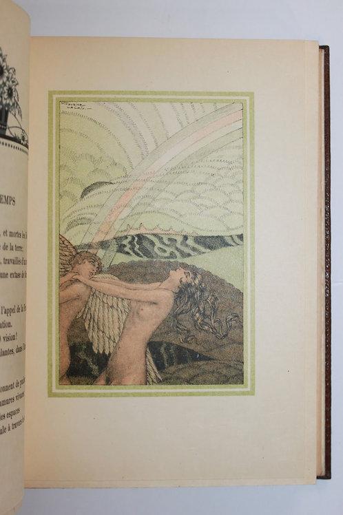 Le Chariot d'Or par Albert Samain, illustré par Maurice Lalau (1926). Ex. Japon
