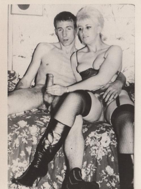 Photographie originale amateur érotique (vers 1970). Ref. 296