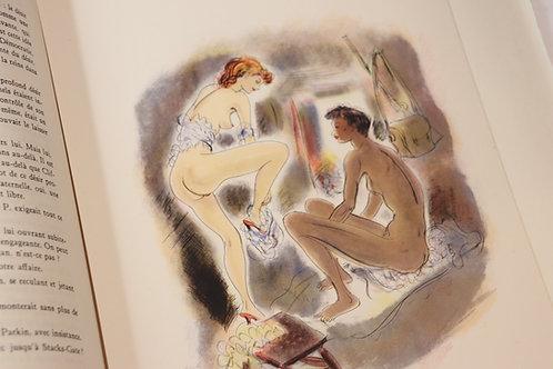Lady Chatterley par D. H. Lawrence (1956). Edition illustrée par Schem. 1/17 ex.