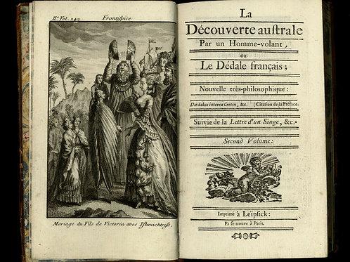 1781 Rétif de la Bretonne Restif Bretone La Découverte Australe Utopie Figures