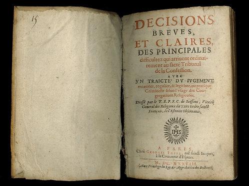 Célestin de Soissons. Manuel du confesseur (1638). Décisions brèves. EO