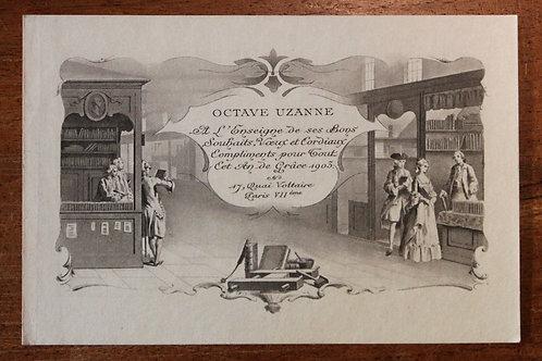 Carte de voeux pour Octave Uzanne (1903). Paul Avril