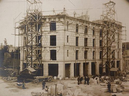 Superbe photographie ancienne (vers 1908-1909). Dijon centre. Place Grangier
