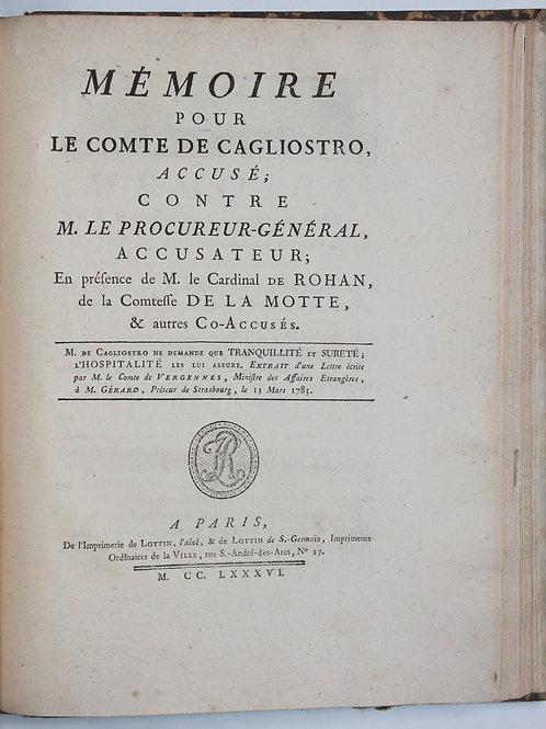 Affaire du Collier de la Reine Marie-Antoinette (1786). Rare recueil de pièces
