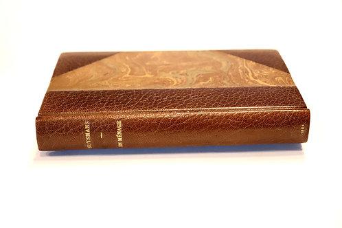 J.-K. Huysmans. En ménage (1881). Edition originale reliée à l'époque par Canape