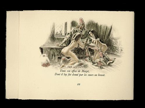 Jean de La Fontaine. Contes érotiques (1945). Illustrations de Jean Traynier.