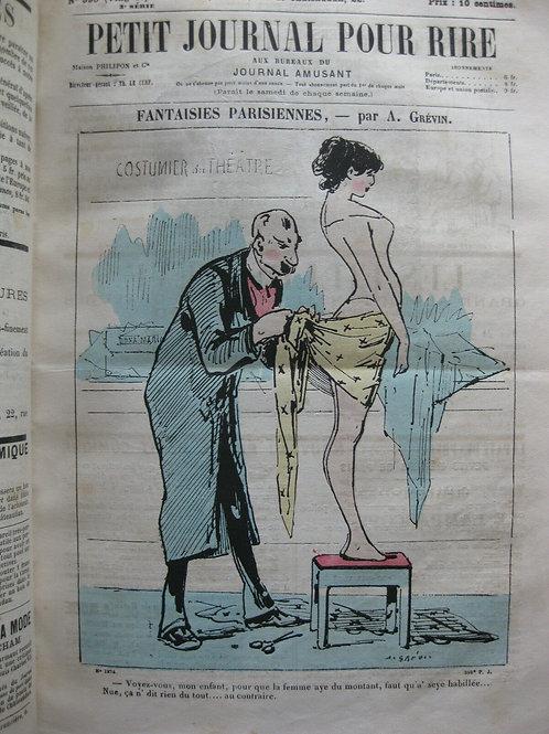 1883 A. Grévin Petit Journal pour rire 50 numéros année complète une aquarellée