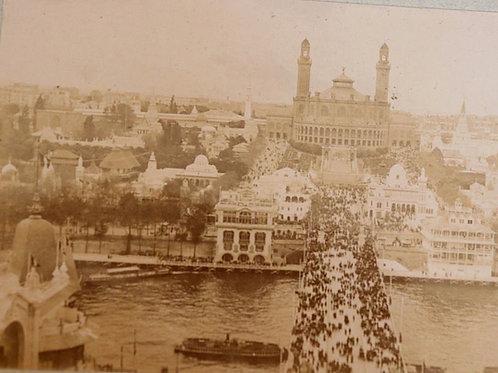 Paris 1900 Photographie ancienne Exposition Universelle Trocadéro Seine