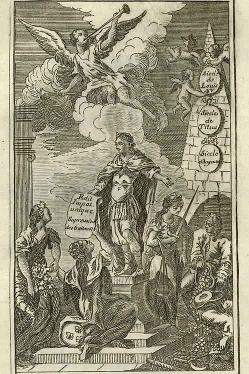 Darigrand. L'Anti-Financier (1764) avec son supplément. Livre condamné au feu.