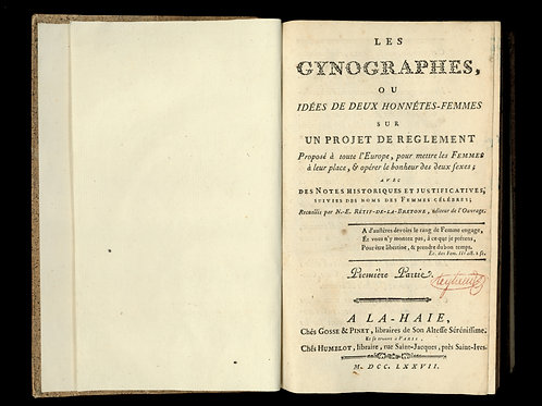 Rétif de la Bretonne [Restif de la Bretone]. Les Gynographes (1777). Les femmes.