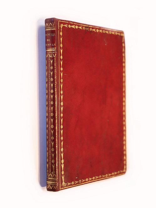 Abbé Benoît. Premier manuel de l'enfance (1837). Exemplaire en maroquin époque