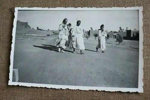 Photo ancienne vers 1930 Maroc Afrique Fatmas à Ouarzazat Atlas