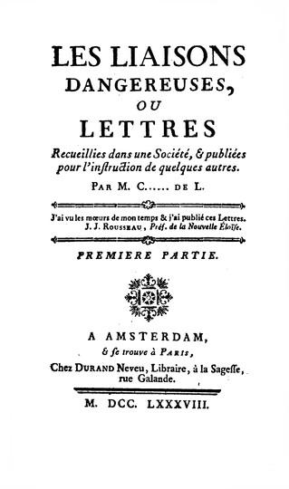 Choderlos de Laclos. Description matérielle de l'édition des Liaisons Dangereuses portant le mil