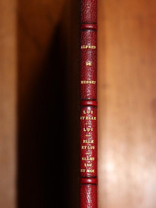 Alfred de Musset. George Sand. Coupures de presse (Le Gaulois, 1860). Rare.
