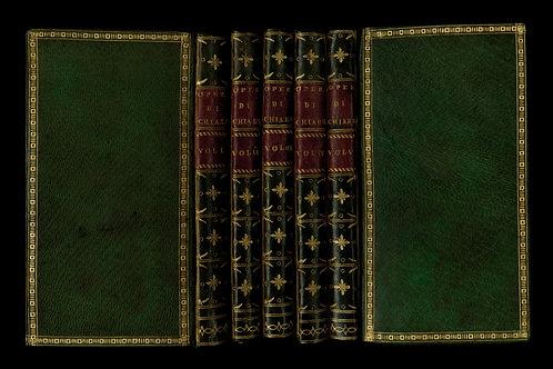 Delle opere di Gabbriello Chiabrera (1757). Rare maroquin vert souple du temps
