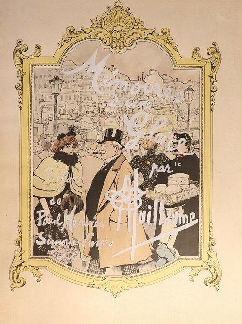 Album illustré par Albert Guillaume. Mémoires d'une glace (1894). 1/10 Chine.