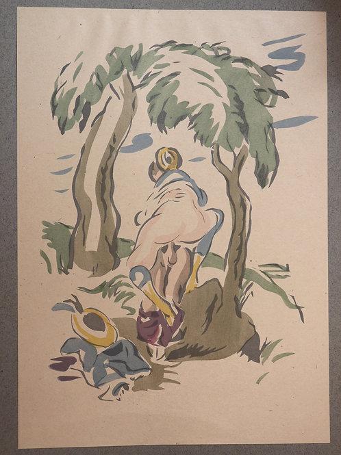 Antonio Francesco (?) Liebesfreude. 1920. Rare portfolio érotique