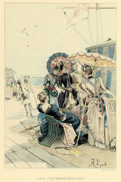 1885 Estampe originale Albert Lynch Française du siècle pour Uzanne Grand Japon