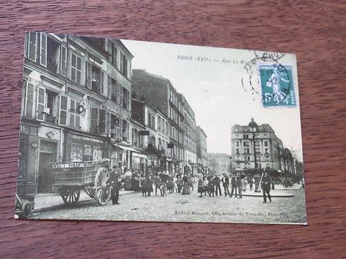 CPA Paris Rue Le Marois magasins, scène de rue