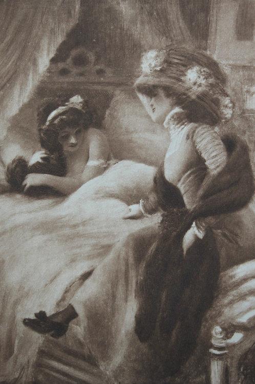 Estampe héliogravure par A. Guillaume nu féminin 1910