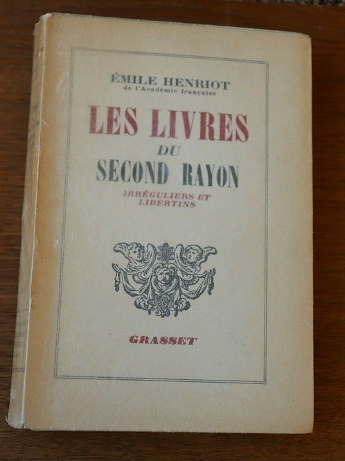 1948 Les livres du Second Rayon Libertins Henriot