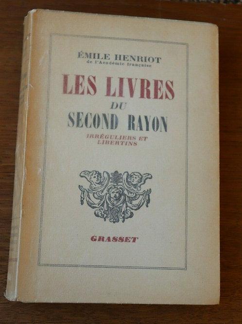 1948 Les livres du Second Rayon Libertins Henriot