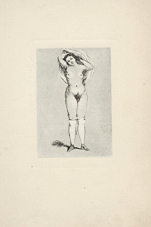 Curiosa allemand. Suite de 62 figures érotiques. Rare. 1910.