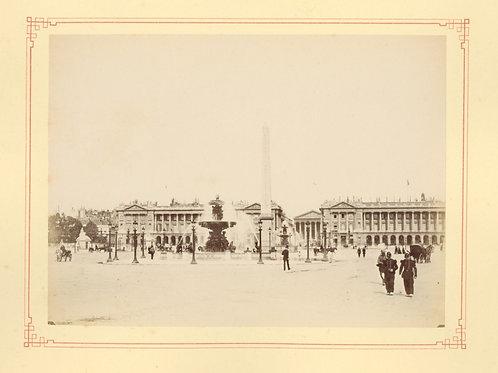 Paris 1890 1900 Photographie ancienne monument scène animée Tirage albumine 11