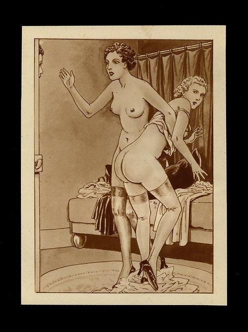 1938 Etienne Le Rallic R. Fanny héliogravure Fouet Fessée