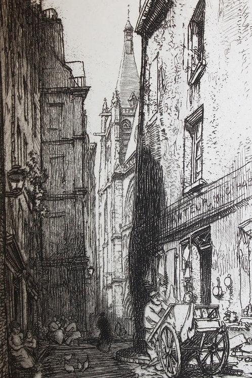 La Bièvre, Les Gobelins, Saint-Séverin par J.-K. Huysmans (1901). Auguste Lepère