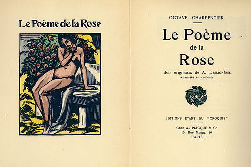 Octave Charpentier. André Deslignères. Le Poème de la Rose (1922). 1/35 Japon.