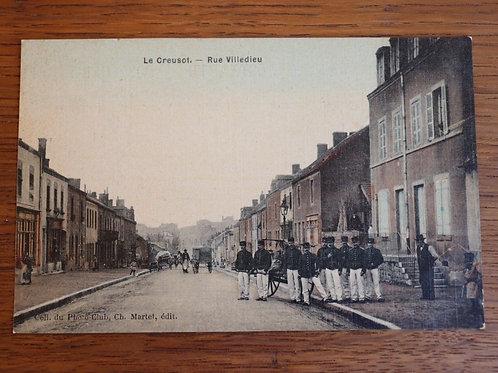 CPA Le Creusot Rue Villedieu