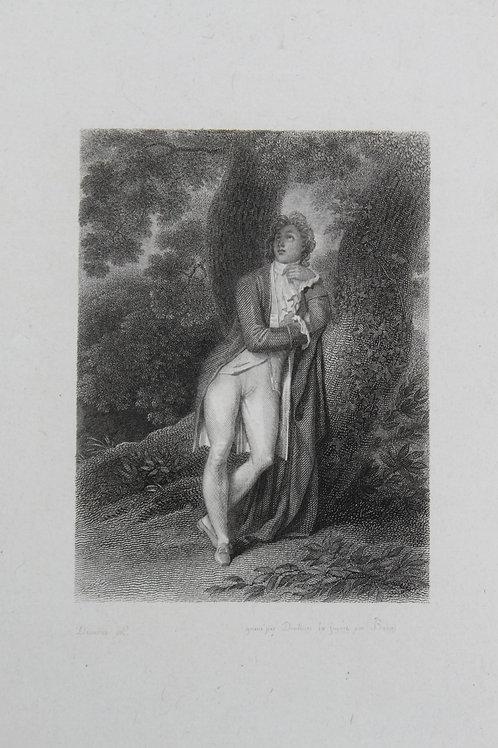 Achille Devéria. Estampe sur acier pour la Nouvelle Héloïse (vers 1827)