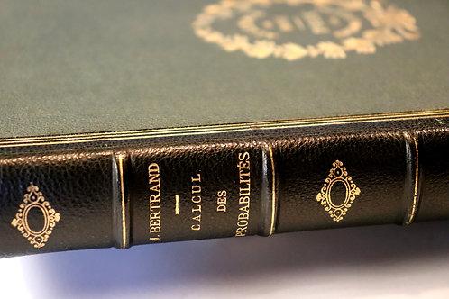 Joseph Bertrand. Calcul des probabilités (1889). Edition originale. Bien relié