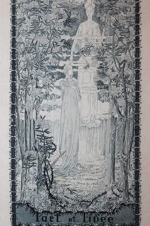 Deux états du frontispice par Carloz Schwabe (1892). Tirage rare sur Japon