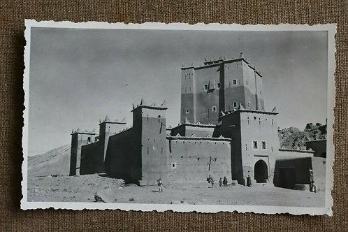 Photo ancienne vers 1930 Maroc Afrique Kasbah de Bades