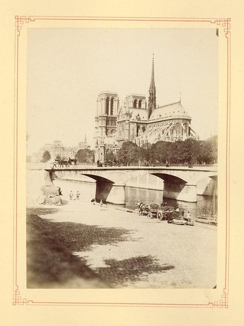 Paris 1890 1900 Photographie ancienne monument scène animée Tirage albumine 6