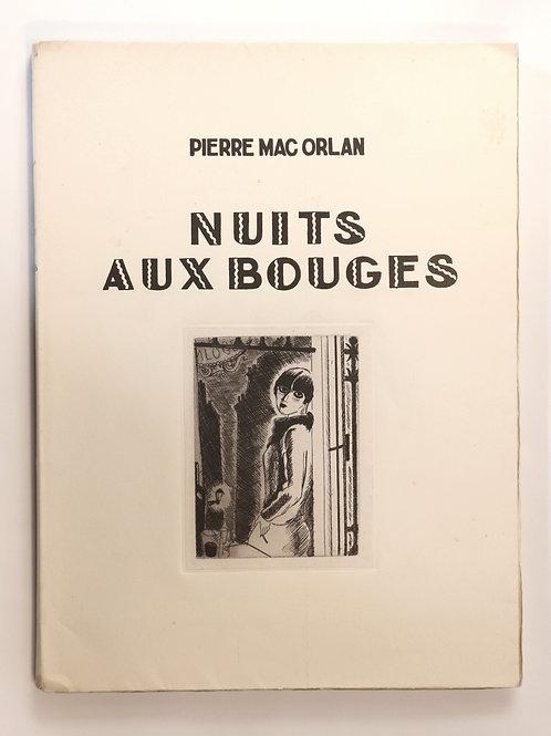Pierre Mac-Orlan. Dignimont. Nuits aux bouges (1929). 1 des 20 ex Japon. Rare