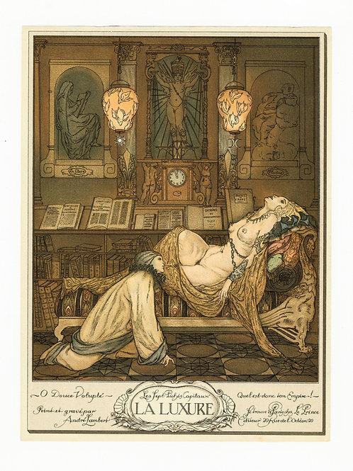 André Lambert. La Luxure. 7 péchés capitaux (1918). Photogravure 22 x 16 cm.