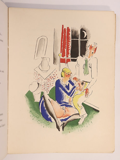 Pierre Louÿs. Pibrac illustré par Marcel Stobbaerts (1930). 20 pochoirs. Rare.