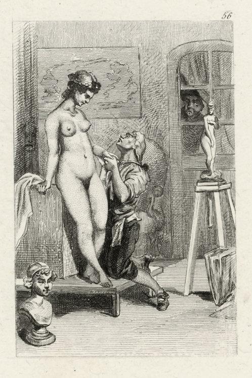 Estampe érotique (gravure sur cuivre) vers 1870-1880 ? N°7
