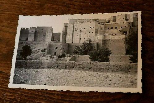 Photo ancienne vers 1930 Maroc Afrique Kasbah de Ouarzazat