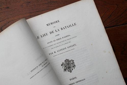 Gustave Goujet. Mémoire sur le lieu de la bataille livrée avant Alésia (1863)