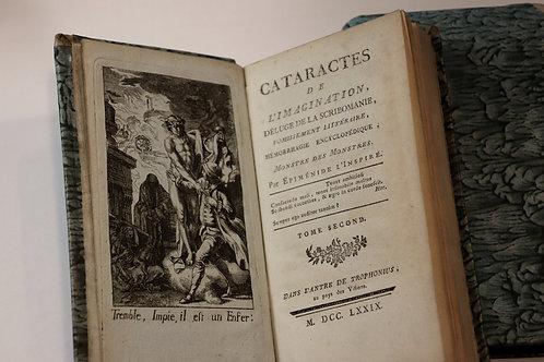 Jean-Marie Chassaignon. Cataractes de l'Imagination, Déluge de la Scribomanie ..
